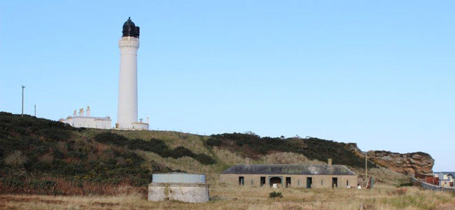 The Old Steading and Well at Covesea Lighthouse